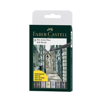 Faber Castell - Pitt Artist Pen Soft Brush 8er Set